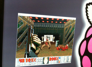 Raspberry Pi running Doom II